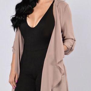 Fashion Nova - Light as a feather jacket. NWT